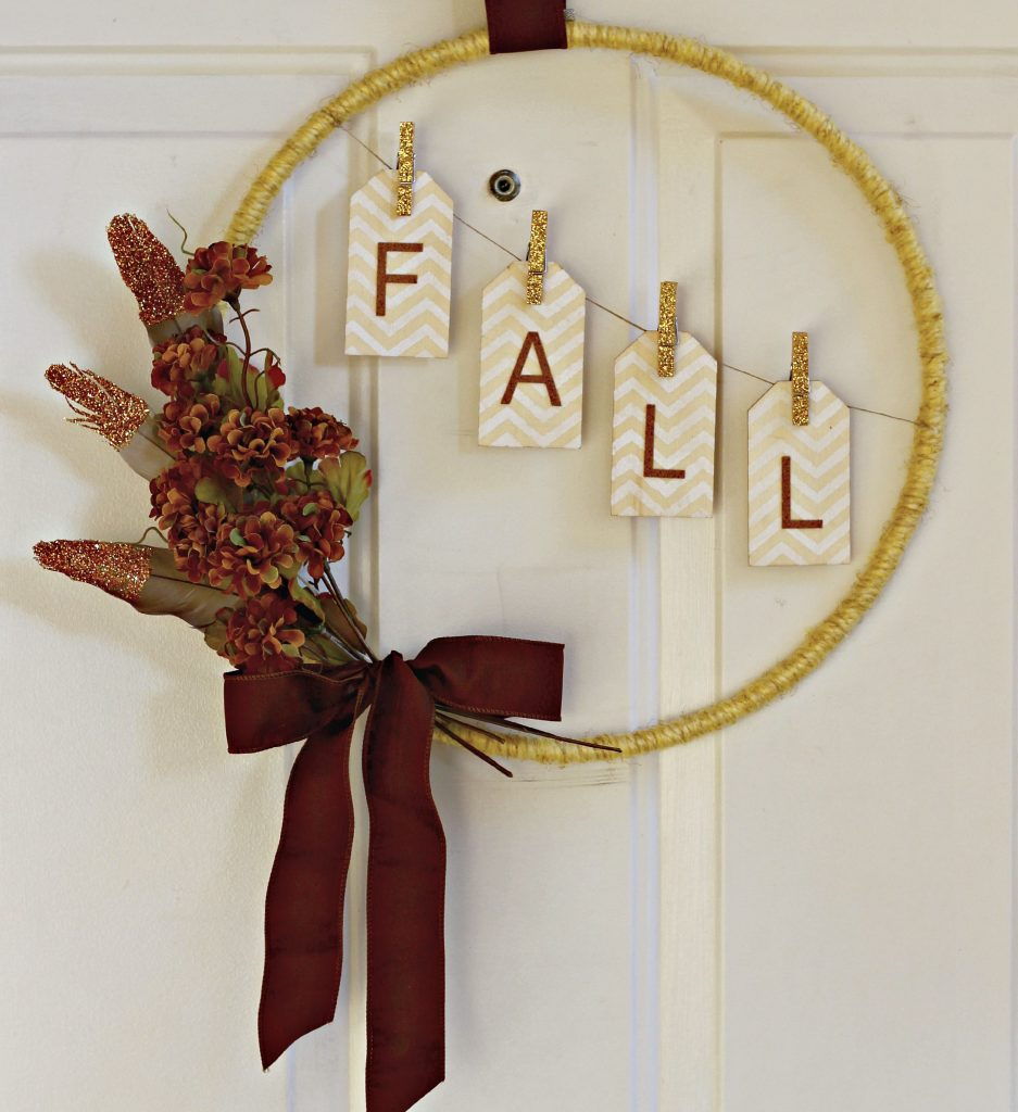 Yellow Fall Hoop Wreath