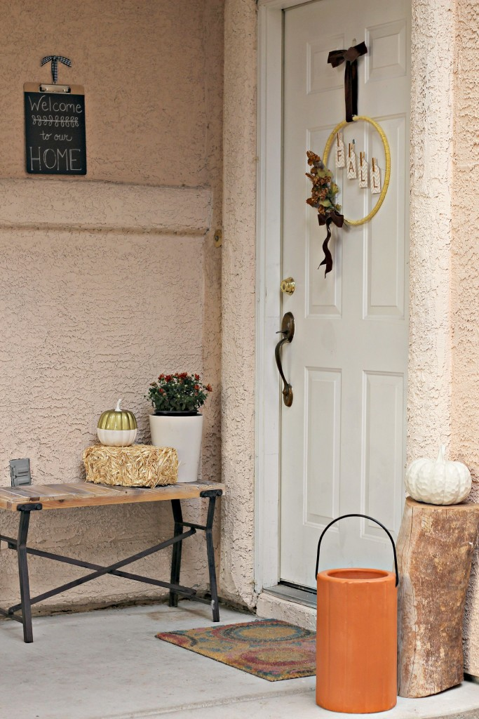 How to Decorate a Small Front Porch for Fall Organize and
