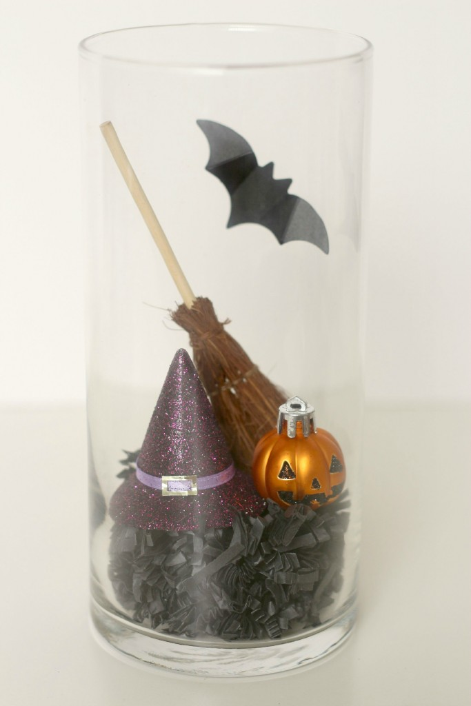 Halloween Jars hat and broom