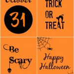 Black and Orange Halloween Printables