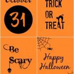 Black and Orange Halloween Printables