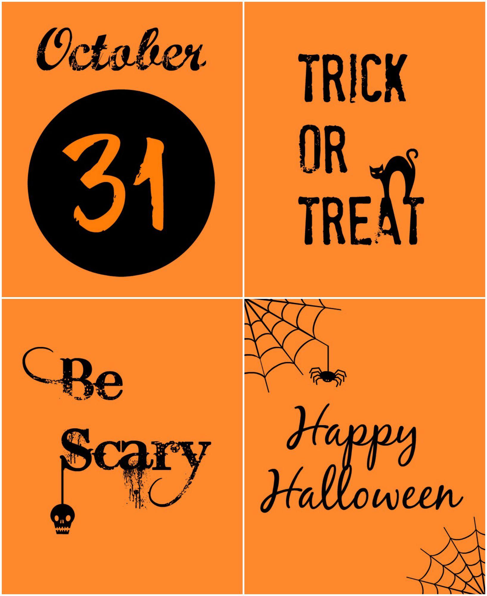 halloween printables - Black And Orange Halloween