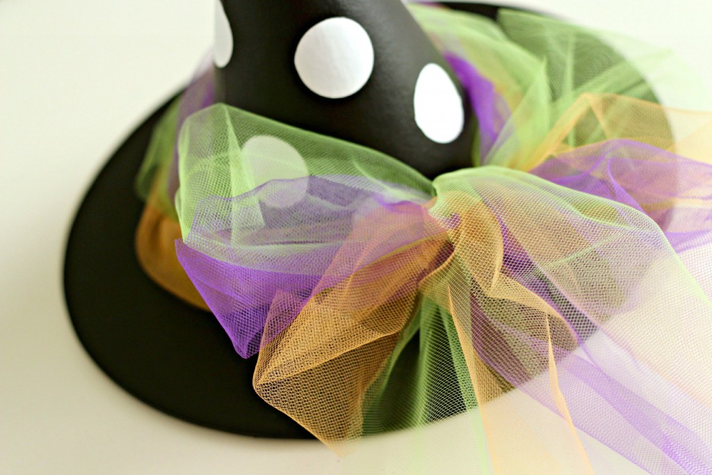 Halloween Witches Hat Tulle trim