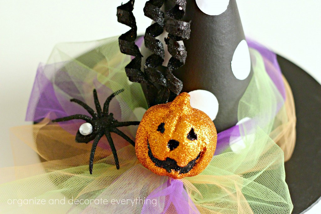 Halloween Witches Hat embellishments glitter