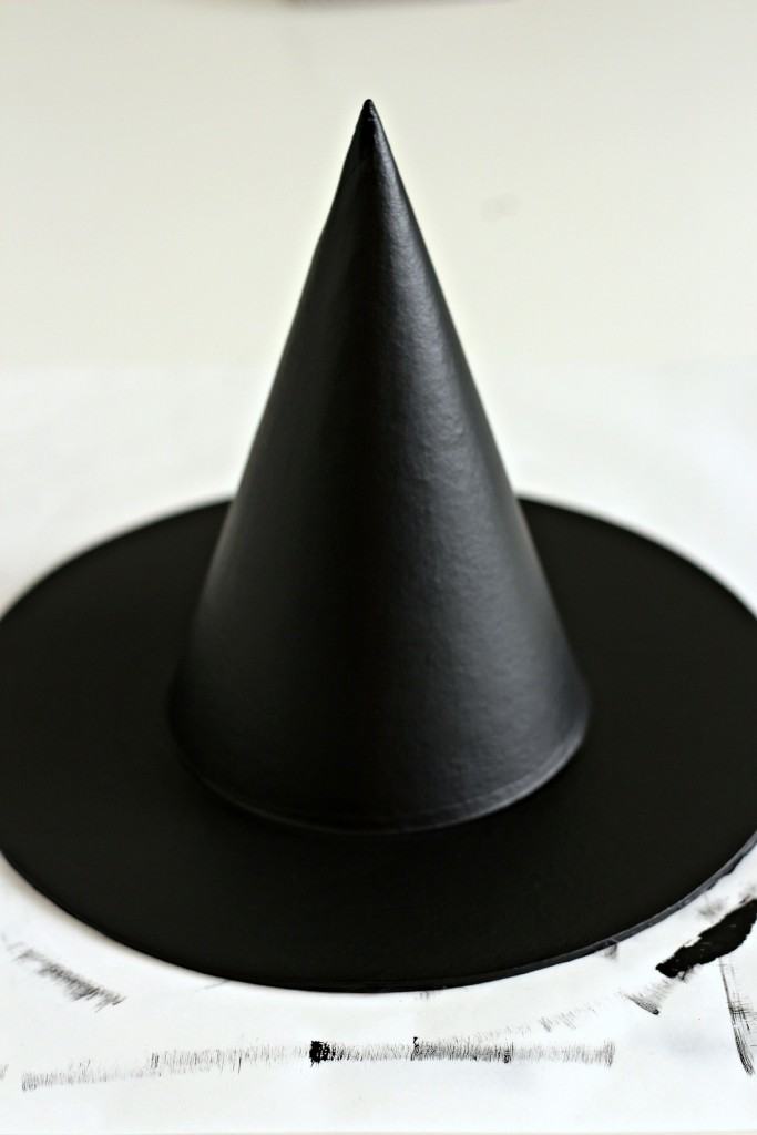 Halloween Witches Hat painted black