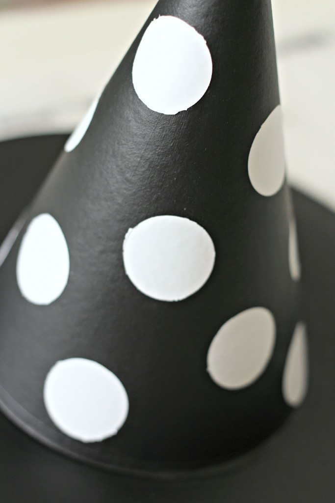 Halloween Witches Hat polka dots