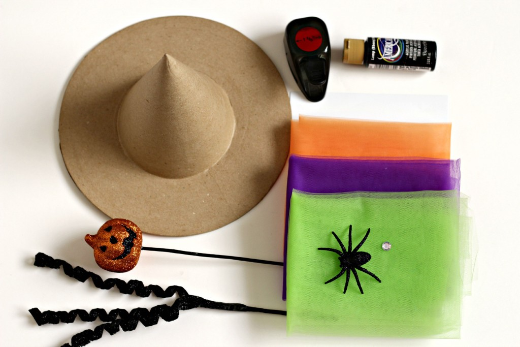 Halloween Witches Hat supplies