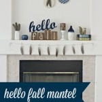 Hello Fall Mantel