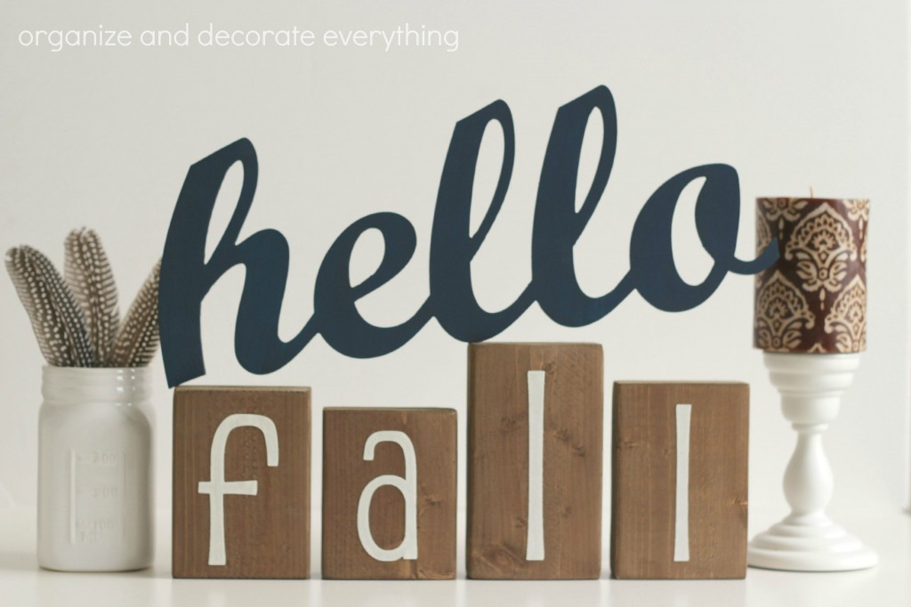 Hello Fall decor