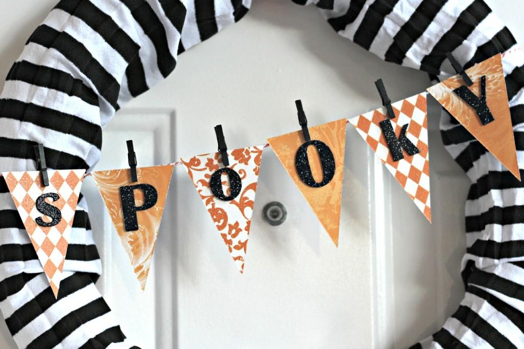 Spooky Spider Wreath Banner