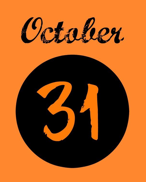 Black and Orange Halloween Printables  Organize and - October 31 Halloween