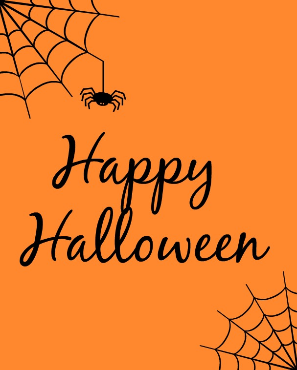 Fabulous image intended for happy halloween signs printable