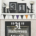 """31"" Halloween Mantel"