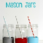 Balloon Dipped Mason Jars