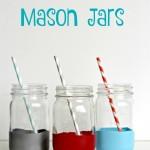 Balloon Dipped Mason Jars