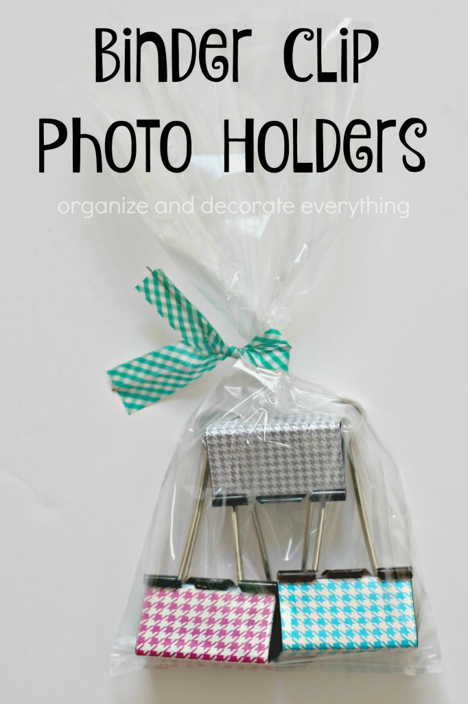 Binder Clip Photo Holders