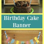 Washi Tape Birthday Cake Banner
