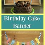 Washi Tape Birthday Cake Banner