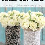 Burlap Can Vases