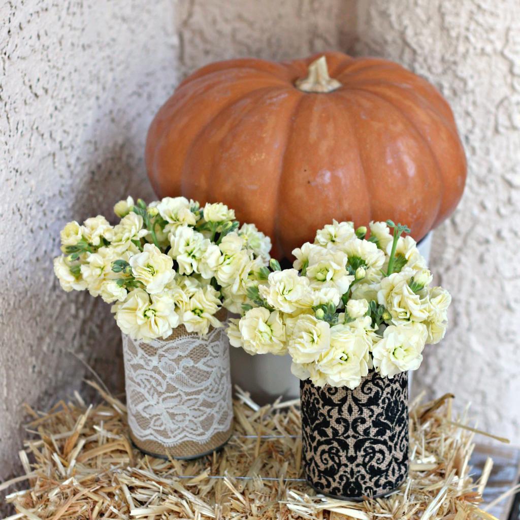 Burlap Can Vases.3