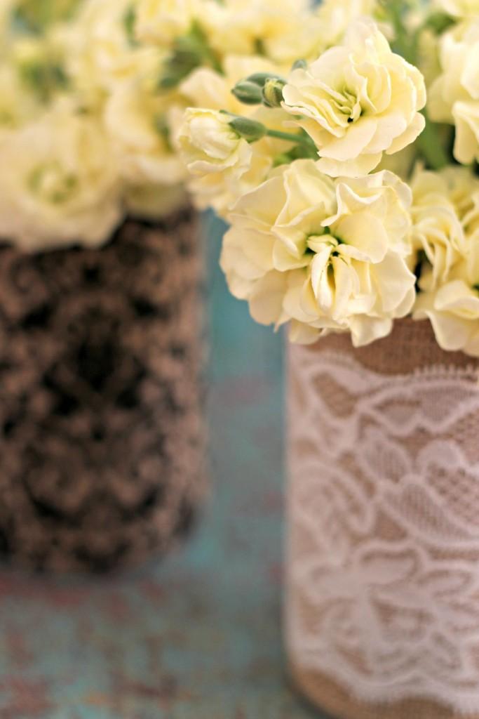 Burlap Can Vases.5