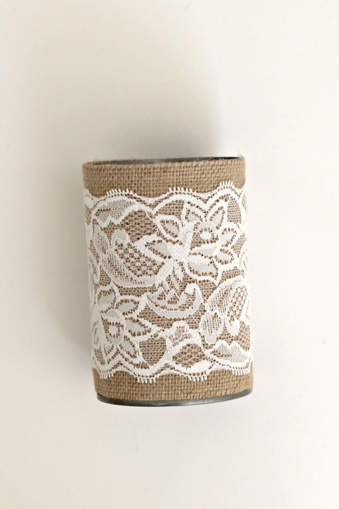 Burlap Can Vases.7