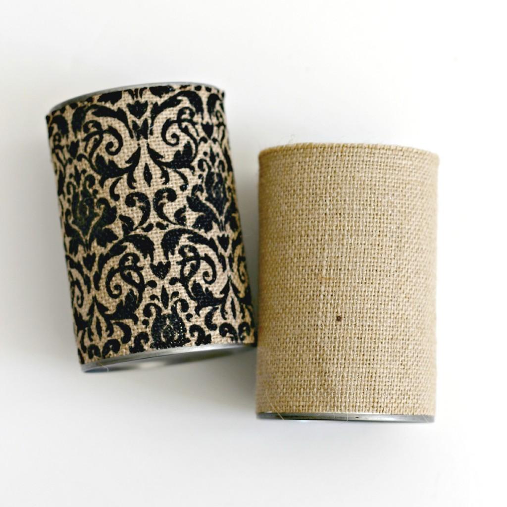 Burlap Can Vases.8