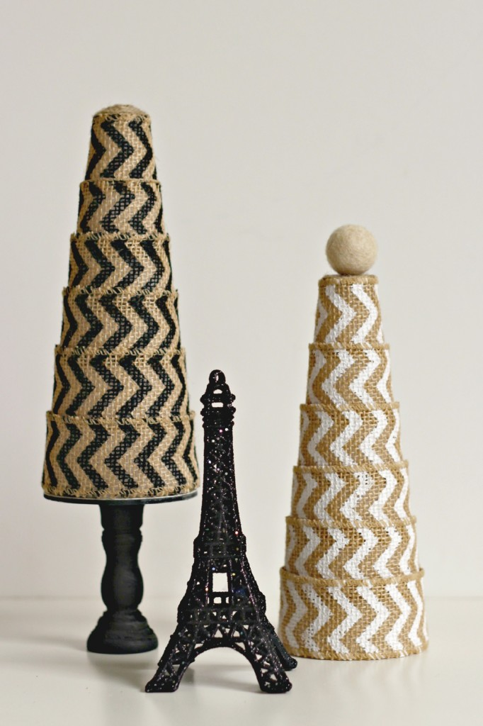 Burlap Ribbon Trees.8