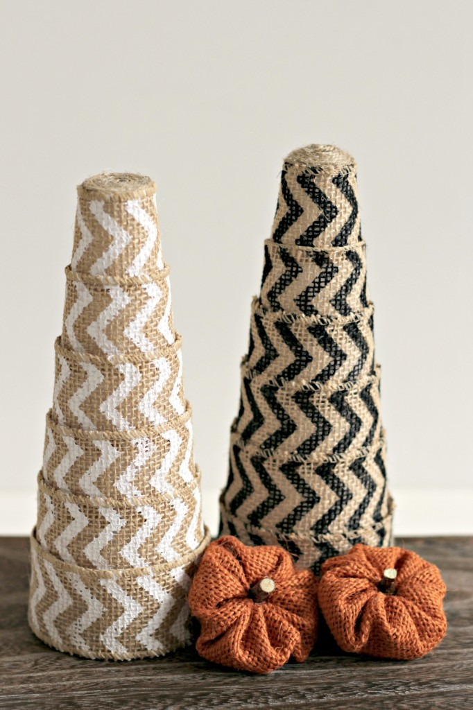 Burlap Ribbon Trees.9