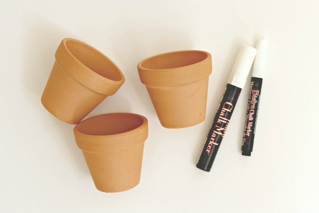 Chalk Marker Decorated Clay Pots.1