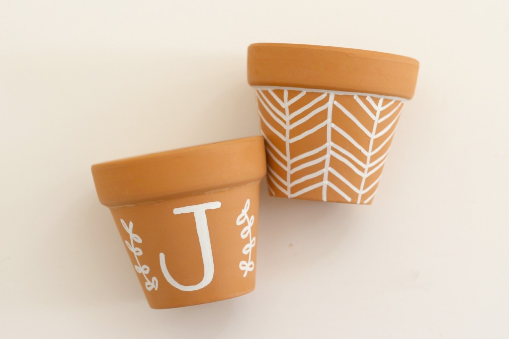 Chalk Marker Decorated Clay Pots.2