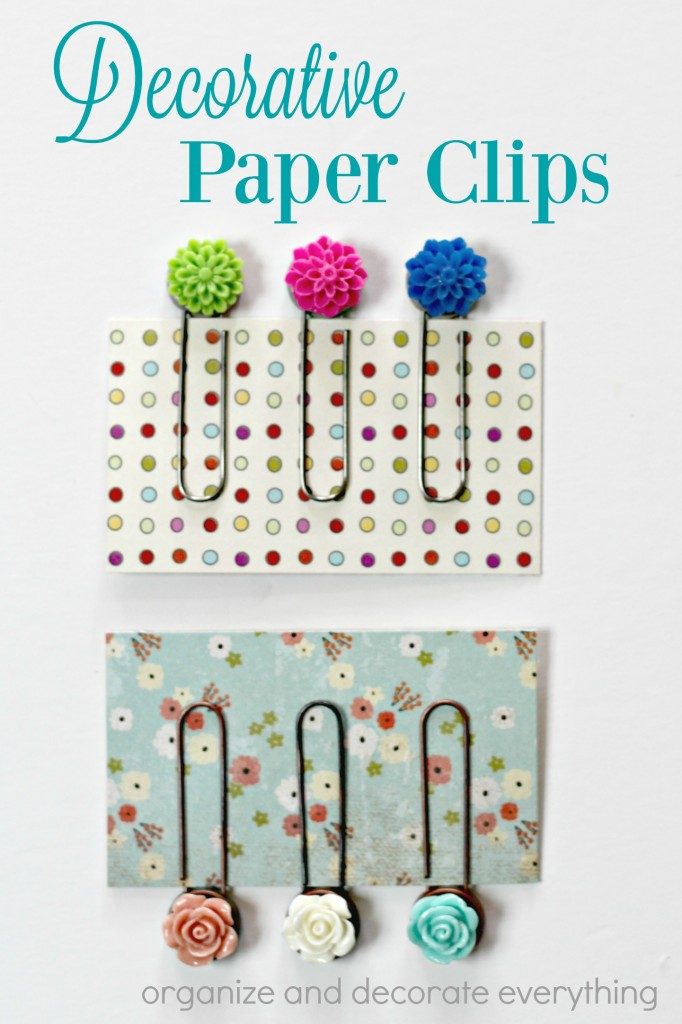 Decorative Paper Clips can be used in the office or as book marks