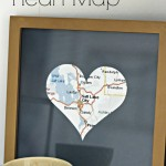 Framed Heart Map