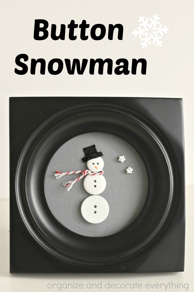 Make this sweet Button Snowman to add to your Christmas and Winter decorations