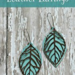 Metal and Leather Earrings
