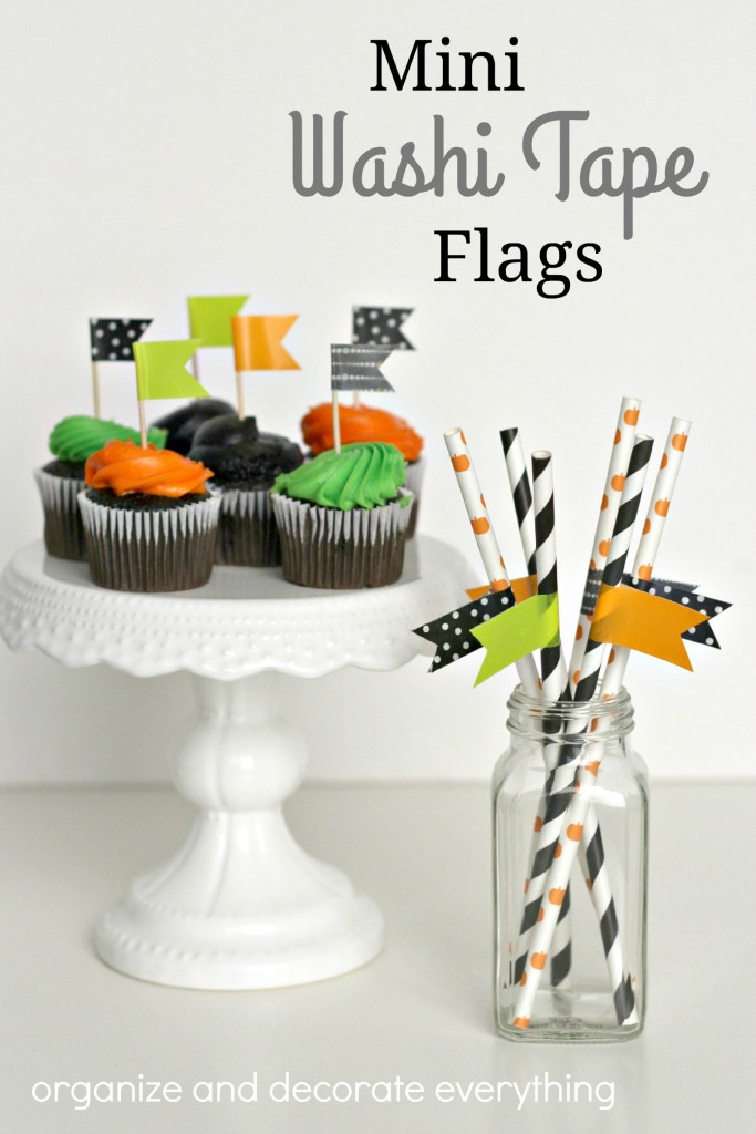Mini Washi Tape Flags are easy to make for any celebration