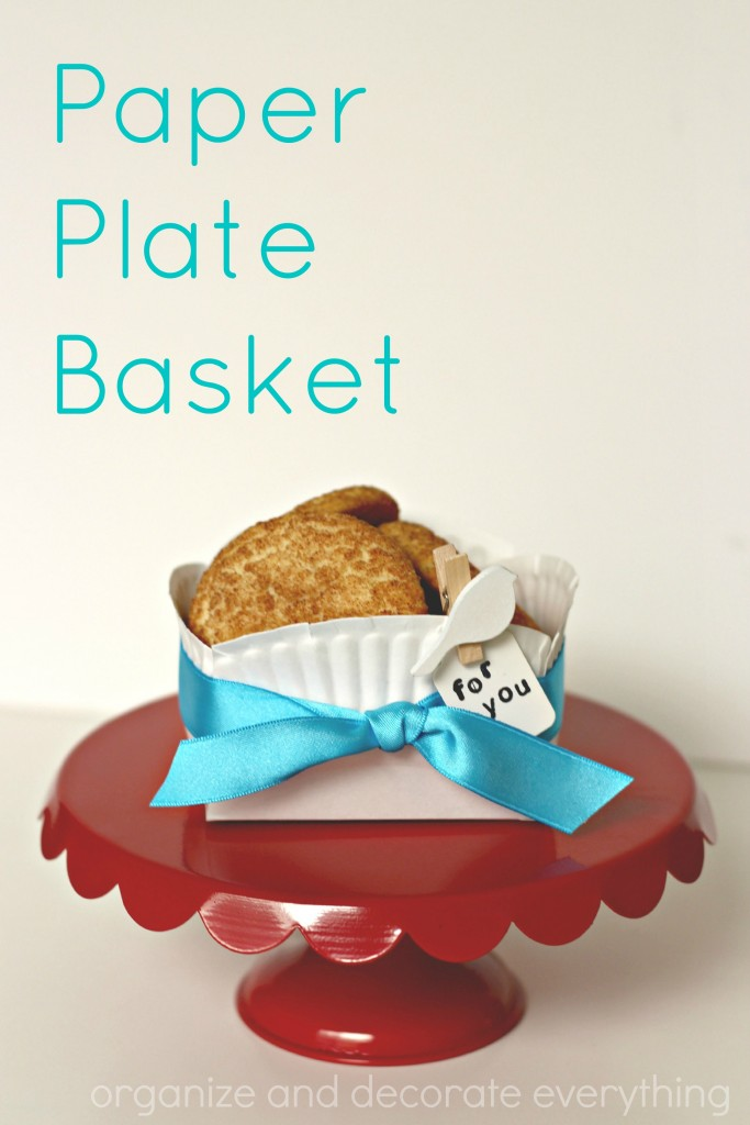 Paper Plate Basket is a quick and easy container for baked goods and other food treats to give as gifts