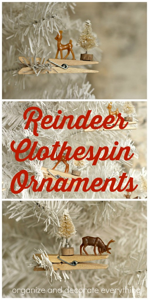 Reindeer Clothespin Ornaments