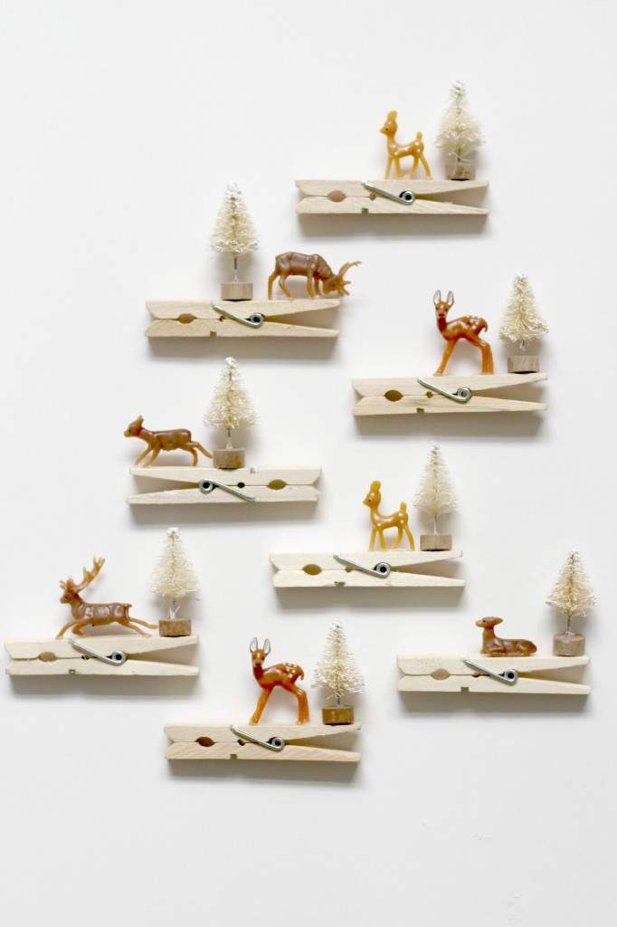 Reindeer Clothespin Ornaments.11