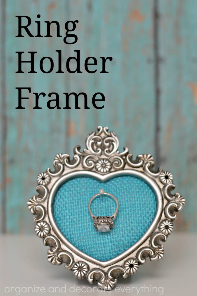 Ring Holder Frame so you can keep your ring safe and always remember where you put it
