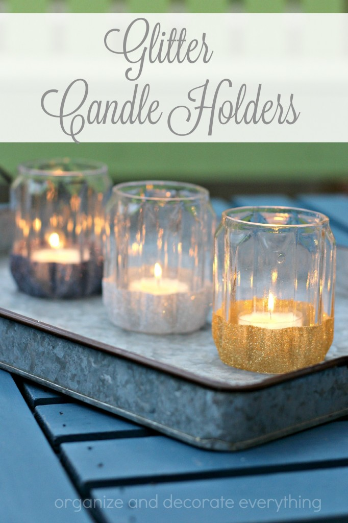 These Glitter Candle Holders are perfect for the holidays or any special occasion. Make them in under 15 minute