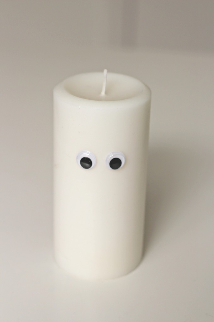 googly eye candle