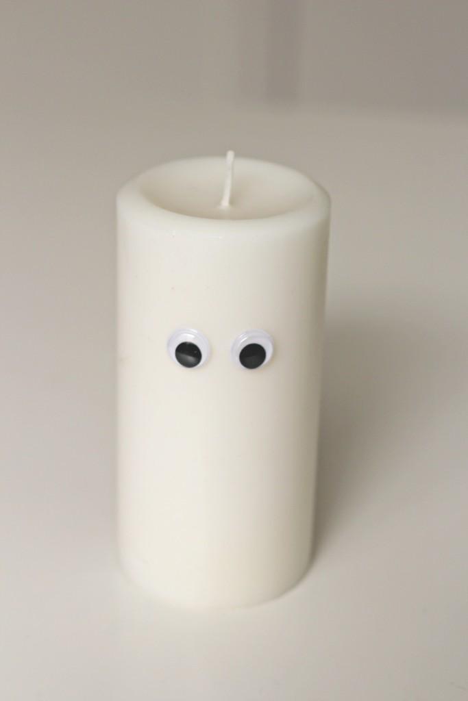 googly eye candle
