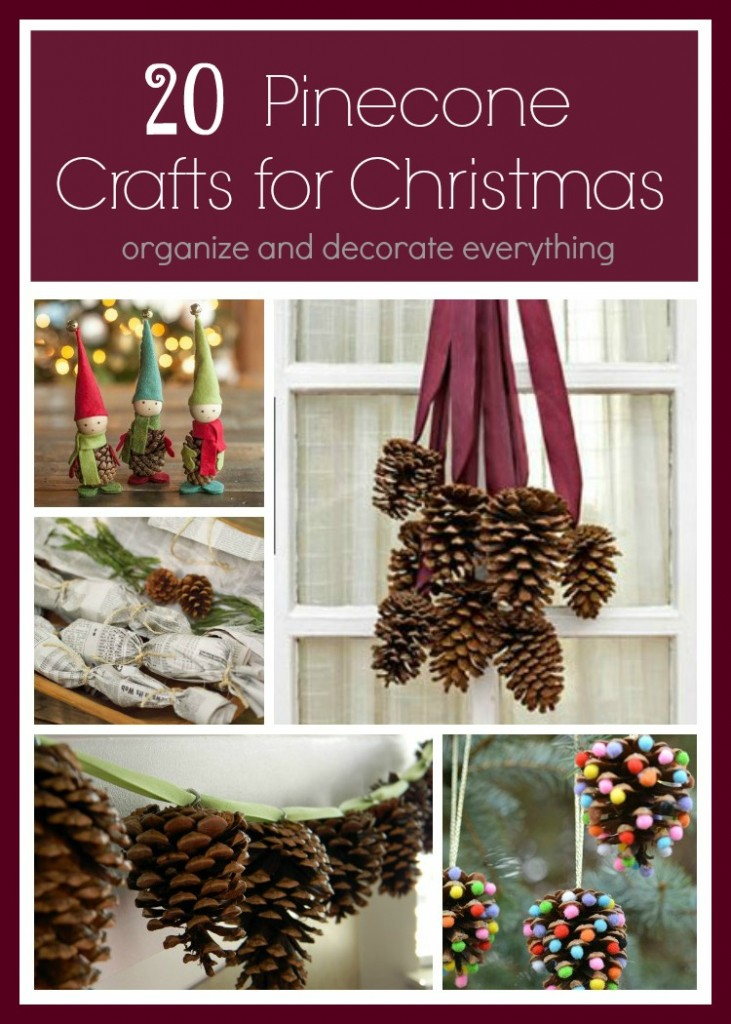 20 awesome pinecone crafts and decorations for christmas - How To Decorate Pine Cones For Christmas Ornaments