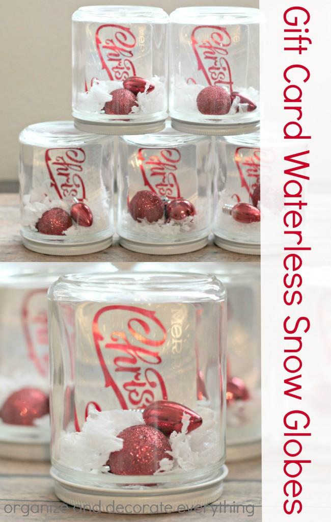 Gift Card Waterless Snow Globe