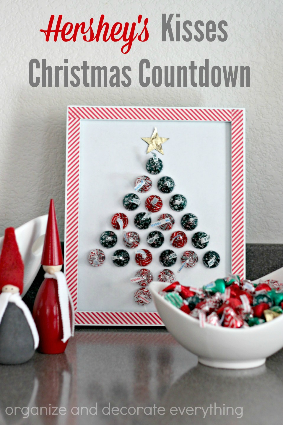 as soon as i knew we were going to be creating something with hersheys kisses chocolates i wanted it to be a project we could enjoy every day of the month - Countdown Till Christmas Decoration