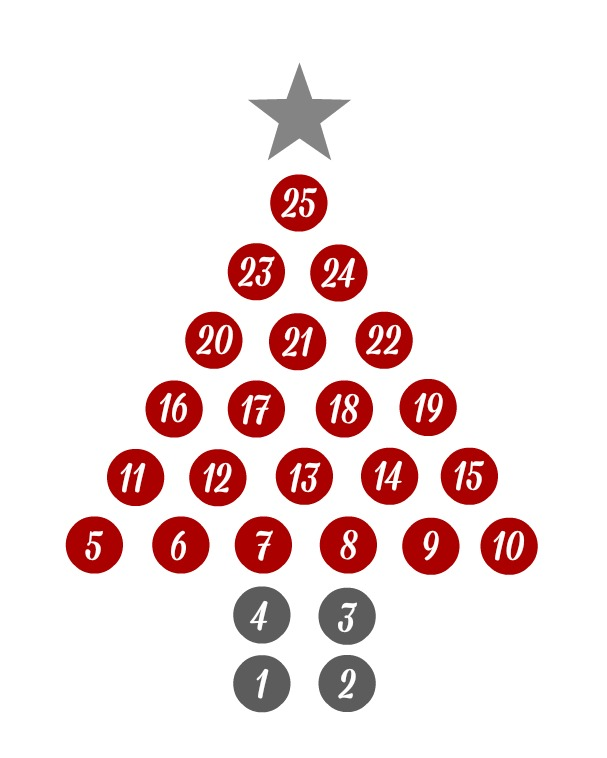 Hersheys Kisses Christmas Countdown