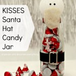 KISSES Santa Hat Candy Jars