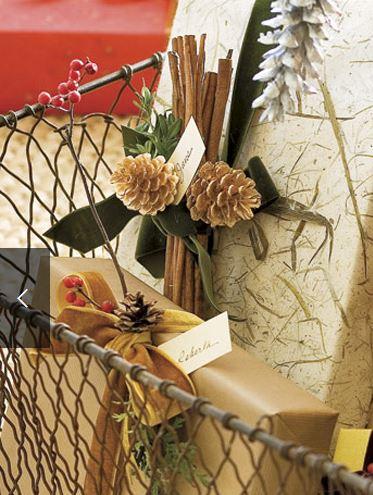 Pinecone Gift Wrap