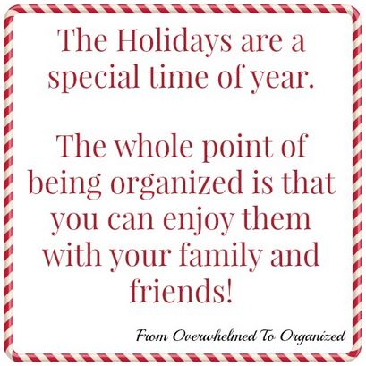 Preparing for the Holidays From Overwhelmed to Organized